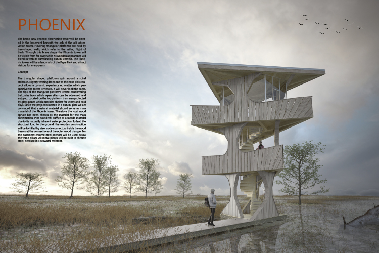 phoenix bird observation tower competition together with fion niggli