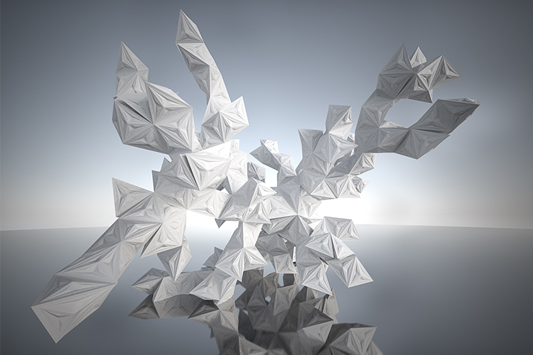 Fractal Python Pyramids, together with Rebeca Duque Estrada, animation and silver rendering by Marcel Abegglen